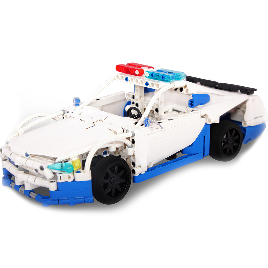 Игрушка конструктор EvoPlay Police GT Car (CR-002C)3D пазлы и конструкторы<br>Игрушка конструктор Evoplay CR-002C Police GT Car (430 дет)<br><br>Цвет: Белый<br>Материал: Пластик