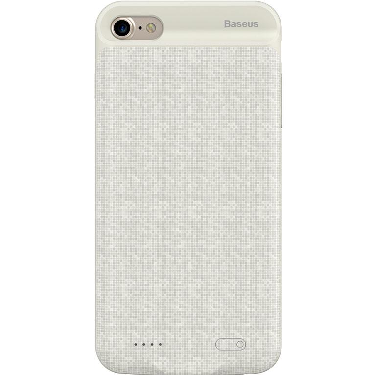 Чехол-аккумулятор Baseus Plaid Backpack Power Bank 2500 mAh для iPhone 7 белыйЧехлы для iPhone 7<br>Стильный и надежный чехол от Baseus обеспечит ваш iPhone 100% защитой и энергией!<br><br>Цвет: Белый<br>Материал: Полиуретан, поликарбонат