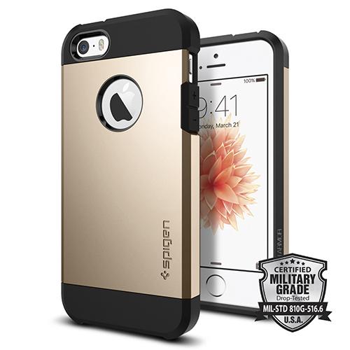 Чехол Spigen Tough Armor для iPhone 5/5S/SE золотой (SGP-041CS20252)Чехлы для iPhone 5s/SE<br>Чехол Spigen Tough Armor для iPhone SE золотистый (SGP-041CS20252)<br><br>Цвет товара: Золотой<br>Материал: Поликарбонат, полиуретан