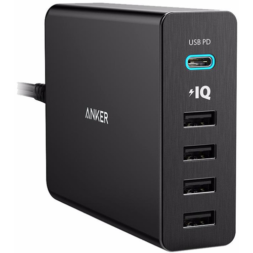 Сетевое зарядное устройство Anker PowerPort+ 5 USB-C Port (A2053L11) чёрноеСетевые зарядки<br>Удобное сетевое зарядное устройство для ваших гаджетов.<br><br>Цвет товара: Чёрный<br>Материал: Пластик