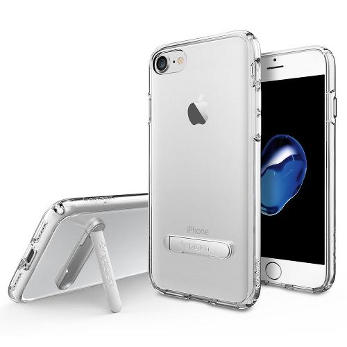 Чехол Spigen Ultra Hybrid S для iPhone 7 (Айфон 7) кристально-прозрачный (SGP-042CS20753)Чехлы для iPhone 7/7 Plus<br>Чехол Spigen Ultra Hybrid S для iPhone 7 (Айфон 7) кристально-прозрачный (SGP-042CS20753)<br><br>Цвет товара: Прозрачный<br>Материал: Поликарбонат, полиуретан