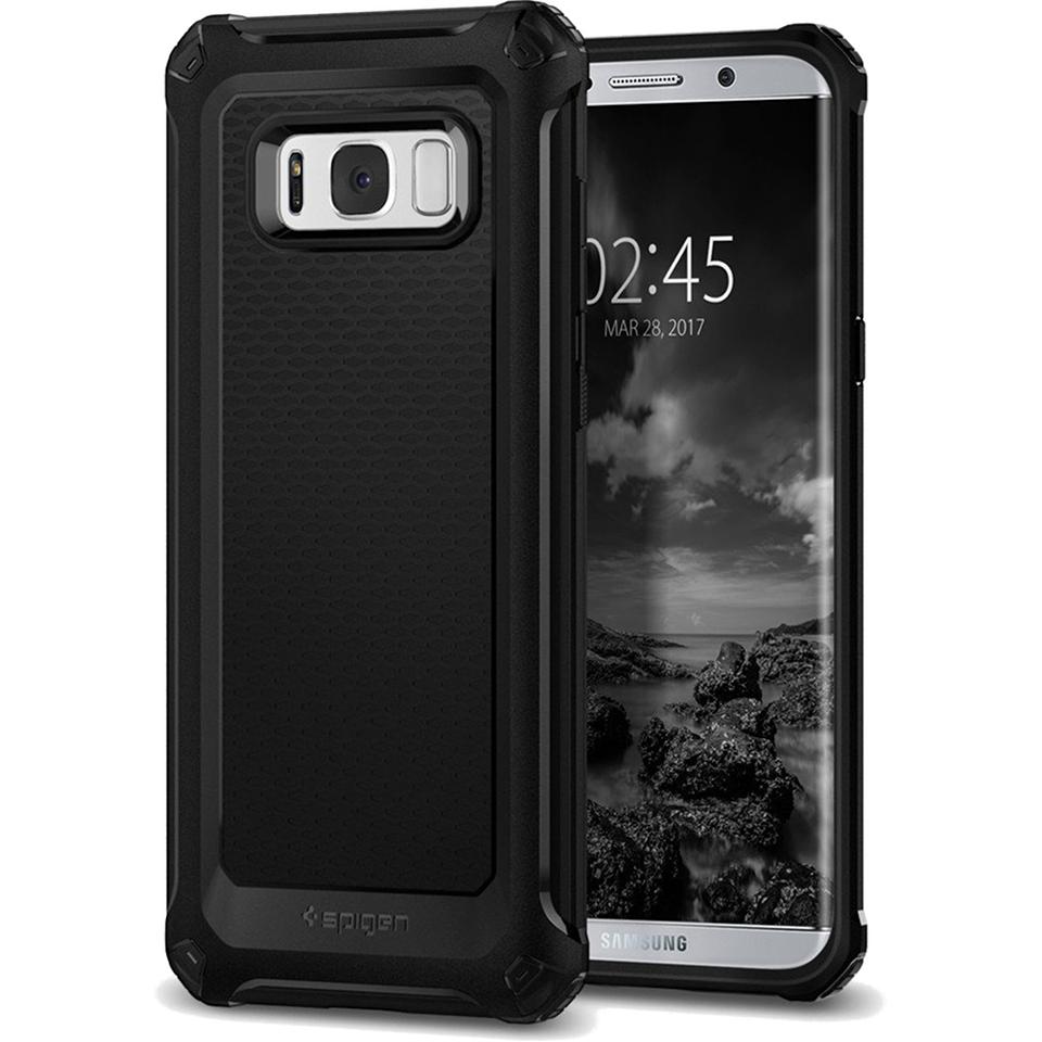 Чехол Spigen Rugged Armor Extra для Samsung Galaxy S8 Plus чёрный (571CS21276)Чехлы для Samsung Galaxy S8/S8 Plus<br>Чехол Rugged Armor Extra создан специально для флагмана Samsung — Galaxy S8 Plus — и, пожалуй, является самым прочным чехлом от Spigen!<br><br>Цвет товара: Чёрный<br>Материал: Термопластичный полиуретан