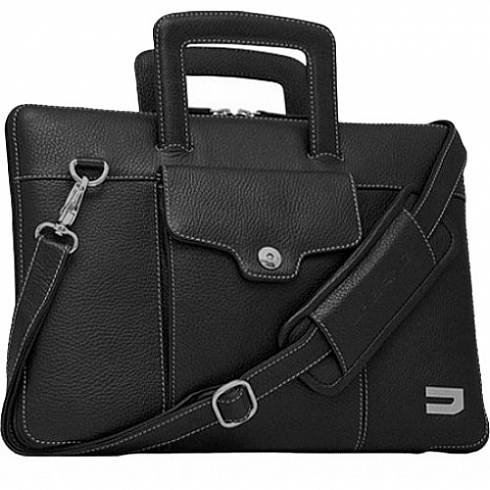 Сумка-чехол Urbano Compact Brief для Macbook 12 чёрнаяСумки для ноутбуков<br>Urbano Compact Brief - роскошная и функциональная сумка для MacBook.<br><br>Цвет: Чёрный<br>Материал: Кожа, текстиль, металл