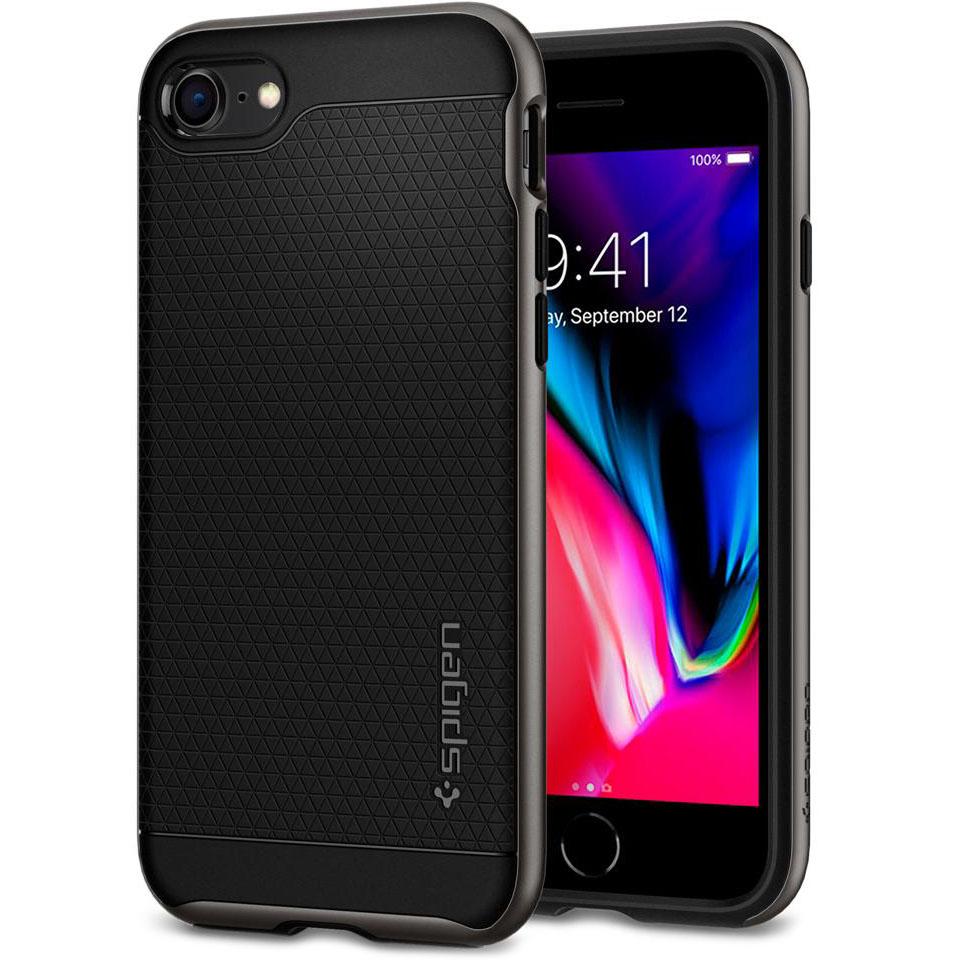 Чехол Spigen Neo Hybrid 2 для iPhone 7, iPhone 8 стальной (054CS22358)Чехлы для iPhone 7<br>Spigen Neo Hybrid 2 двухслойный чехол, который обеспечивает полную защиту вашего смартфона.<br><br>Цвет товара: Серый<br>Материал: Поликарбонат, полиуретан