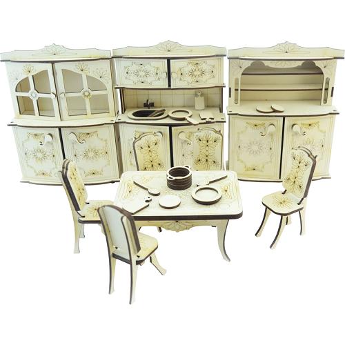 Конструктор 3D Lemmo деревянный Набор мебели «Кухня»3D пазлы, конструкторы, головоломки<br>Конструктор Lemmo 3D деревянный, подвижный - Набор мебели кухня<br><br>Цвет товара: Бежевый<br>Материал: Натуральное дерево