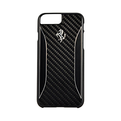 Чехол Ferrari GT Experience Hard Carbon-Aluminium для iPhone 7 Plus (Айфон 7 Плюс) чёрныйЧехлы для iPhone 7 Plus<br>Чехол Ferrari для iPhone 7 Plus GT Experience Hard Carbon-Aluminium Black<br><br>Цвет товара: Чёрный<br>Материал: Полкикарбонат