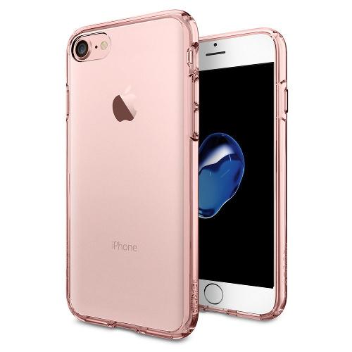 Чехол Spigen Ultra Hybrid для iPhone 7 (Айфон 7) розовое золото (SGP-042CS20445)Чехлы для iPhone 7<br>Чехол Spigen Ultra Hybrid для iPhone 7 (Айфон 7) розовое золото (SGP-042CS20445)<br><br>Цвет товара: Розовое золото<br>Материал: Поликарбонат, полиуретан