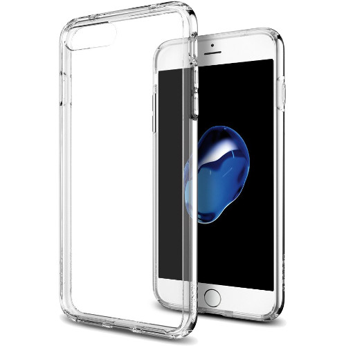 Чехол Spigen Ultra Hybrid для iPhone 7 Plus (Айфон 7 Плюс) кристально-прозрачный (SGP-043CS20547)Чехлы для iPhone 7 Plus<br>Spigen Ultra Hybrid — идеальный чехол для минималистов, которые ценят максимальную надёжность и безопасность!<br><br>Цвет товара: Прозрачный<br>Материал: Термопластичный полиуретан (TPU)