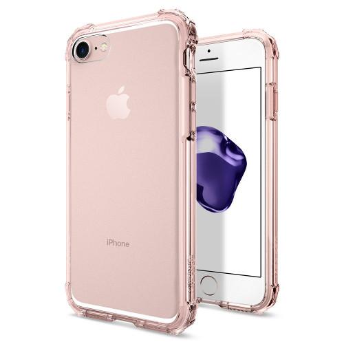 Чехол Spigen Crystal Shell для iPhone 7 (Айфон 7) кристально-розовый (SGP-042CS20308)Чехлы для iPhone 7<br>Сочетание поликарбоната и полиуретана придают чехлу Crystal Shell превосходные защитные и амортизирующие свойства.<br><br>Цвет товара: Розовый<br>Материал: Термопластичный полиуретан TPU
