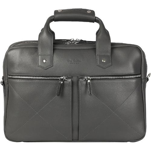 Сумка Ray Button Hannover для MacBook 15 тёмно-серая (310C01)Сумки для ноутбуков<br>Сумка Hannover станет незаменимой для современного делового мужчины.<br><br>Цвет товара: Серый<br>Материал: Натуральная кожа КРС, металлическая молния