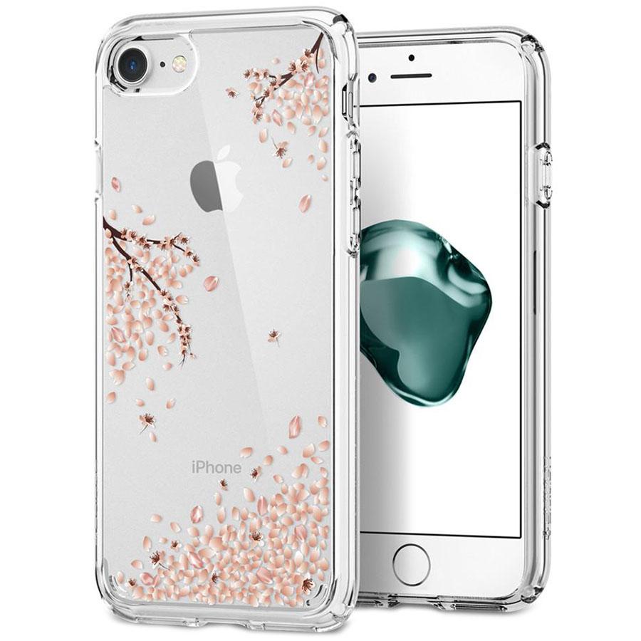 Чехол Spigen Crystal Shell Blossom для iPhone 8, iPhone 7 кристально-прозрачный (042CS21536)Чехлы для iPhone 7<br>В Spigen Crystal Shell Blossom ваш iPhone 8 будет готов практически к любым приключениям!<br><br>Цвет товара: Прозрачный<br>Материал: Поликарбонат, полиуретан