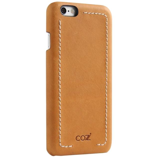 Чехол Cozistyle Leather Wrapped Case для iPhone 6 Plus/6s Plus светло-коричневыйЧехлы для iPhone 6/6s Plus<br>Прочные полимеры, высококачественная натуральная кожа, изысканные текстуры и благородные оттенки.<br><br>Цвет товара: Коричневый<br>Материал: Натуральная кожа, текстиль, поликарбонат