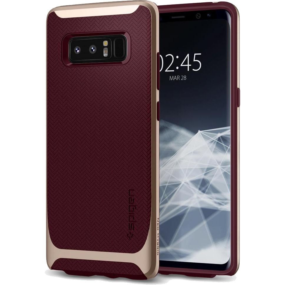 Чехол Spigen Neo Hybrid для Samsung Galaxy Note 8 бордовый Burgundy (587CS22087)Чехлы для Samsung Galaxy Note<br>Испытайте непревзойденную защиту нового чехла Neo Hybrid от Spigen для Samsung Galaxy Note 8.<br><br>Цвет товара: Красный<br>Материал: Поликарбонат, полиуретан