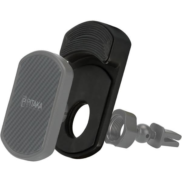 Адаптер для автодержателя PITAKA Magnetic Pro Vent Mount для Samsung S9 / S9+Автодержатели<br>Благодаря этому адаптеру вы сможете беспрепятственно использовать Samsung S9/S9+ за рулём.<br><br>Цвет: Чёрный<br>Материал: Пластик