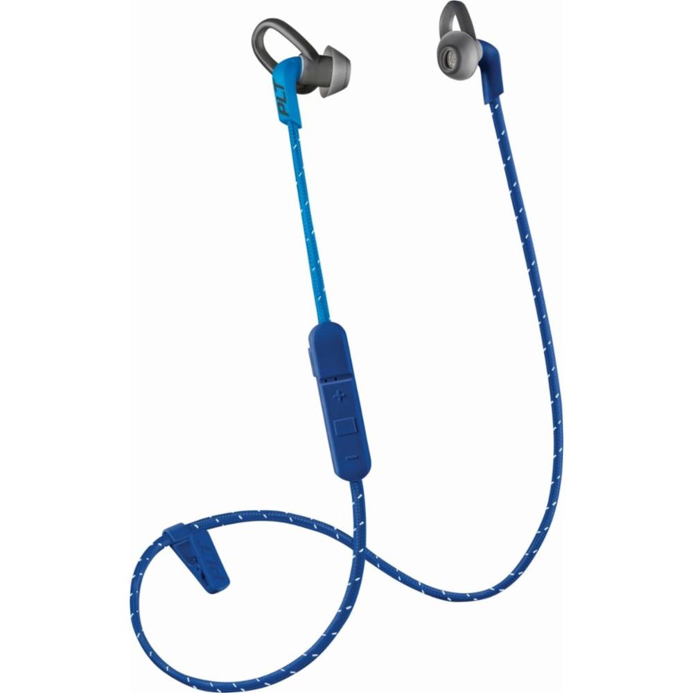 Наушники Plantronics BackBeat Fit 305 Sport синиеВнутриканальные наушники<br>Наушники Plantronics BackBeat Fit 305 не боятся пота и влаги, а значит вы сможете слушать вдохновляющие треки даже во время усиленных тренировок.<br><br>Цвет товара: Синий<br>Материал: Пластик, нанопокрытие P2i, текстиль