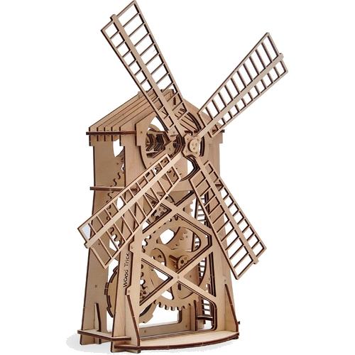 3D-конструктор из дерева Wood Trick Мельница3D пазлы и конструкторы<br>Сувениры Wood Trick — это механические 3D-модели, которые собираются без клея и понятны даже ребенку.<br><br>Цвет: Бежевый<br>Материал: Натуральное дерево (фанера)