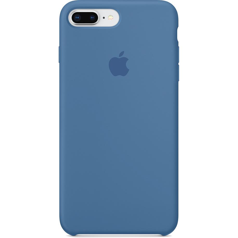 Силиконовый чехол Apple Case для iPhone 8 Plus / iPhone 7 Plus «Синий деним» Denim BlueЧехлы для iPhone 7 Plus<br>Лучший защитник вашего гаджета от царапин, потертости, трещин и даже сколов.<br><br>Цвет: Синий<br>Материал: Силикон