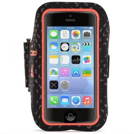 Чехол Griffin adidas Armband для iPhone 5/5s/5c/SE чёрный/красныйЧехлы для iPhone 5s/SE<br>Чехол Griffin Adidas на руку для iPhone 5/5s/5c/5se черный/красный<br><br>Цвет товара: Красный<br>Материал: Текстиль, силикон
