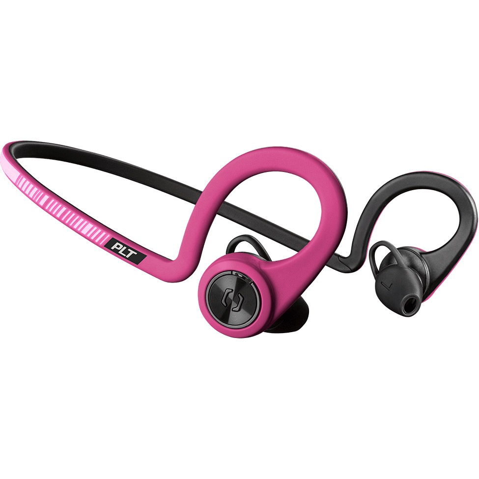 Наушники Plantronics BackBeat Fit розовые FuchsiaВнутриканальные наушники<br>Беспроводные наушники Plantronics BackBeat Fit идеальны для активных людей, занимающихся спортом.<br><br>Цвет: Розовый<br>Материал: Пластик, нанопокрытие P2i