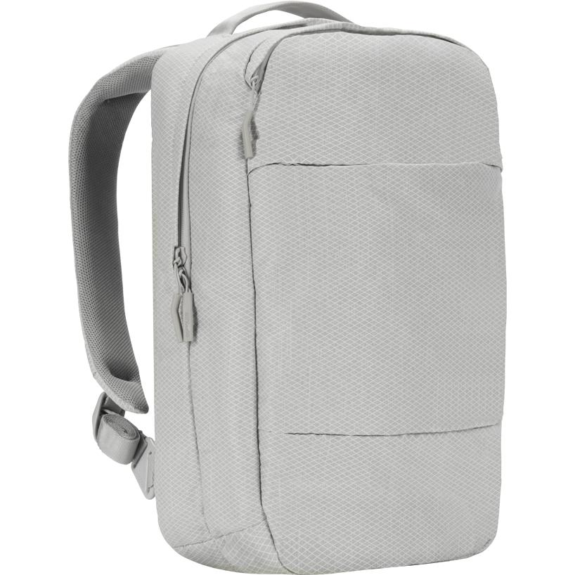 Рюкзак Incase City Compact Backpack with Diamond Ripstop для MacBook 15 серый Cool Gray (INCO100314-CGY)Рюкзаки<br>Этот рюкзак станет надежным и практичным спутником в ваших ежедневных путешествиях, как далеко вы бы ни отправились.<br><br>Цвет: Серый<br>Материал: 100% полиэстер