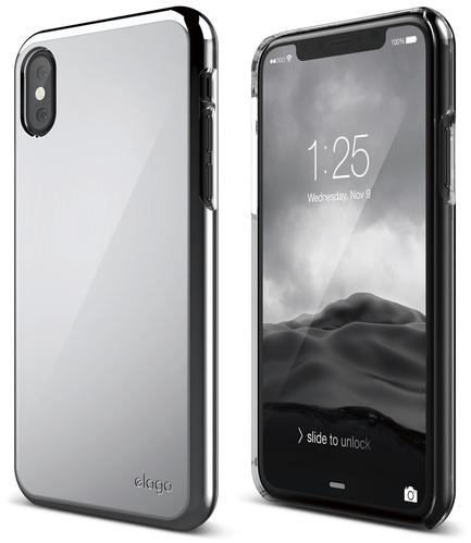 Чехол Elago Slim Fit 2 для iPhone X хромЧехлы для iPhone X<br>Ультратонкий и в то же время невероятно прочный Elago Slim Fit 2 — это абсолютная защита для вашего iPhone X!<br><br>Цвет: Серебристый<br>Материал: Поликарбонат