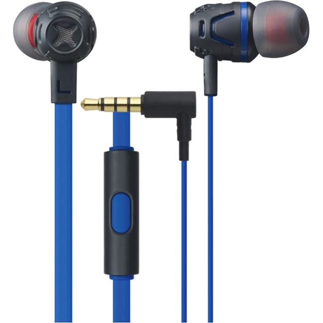 Наушники с микрофоном Cresyn C450S синиеВнутриканальные наушники<br>Наушники Cresyn C450S Blue<br><br>Цвет товара: Синий<br>Материал: Пластик, силикон