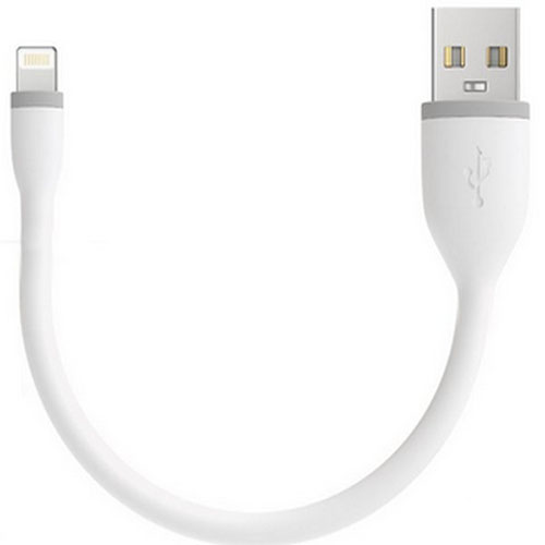 Гибкий кабель USB-Lightning Satechi (B0160CP1GE) 0.15 мПровода и кабели<br>Гибкий Lightning кабель Satechi 0.15m Белый<br><br>Материал: Резина, пластик