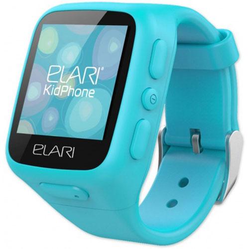 Детские часы-телефон Elari KidPhone c GPS/LBS-трекером голубыеУмные часы<br>Elari KidPhone - детские многофункциональные часы-телефон.<br><br>Цвет товара: Голубой<br>Материал: Пластик