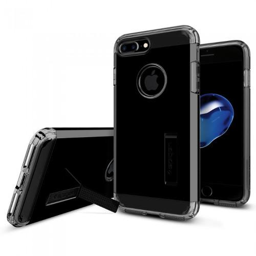 Чехол Spigen Tough Armor для iPhone 7 и 8 Plus ультра-чёрный (SGP-043CS20852)Чехлы для iPhone 7 Plus<br>Чехол Spigen Tough Armor - это тончайшая двухслойная защита для вашего iPhone 7 Plus.<br><br>Цвет товара: Чёрный<br>Материал: Поликарбонат, полиуретан