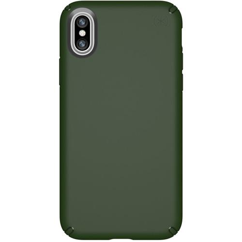 Чехол Speck Presidio для iPhone X тёмно-зелёныйЧехлы для iPhone X<br>Надежный чехол Speck Presidio является превосходной защитой для вашего iPhone X.<br><br>Цвет товара: Зелёный<br>Материал: Поликарбонат