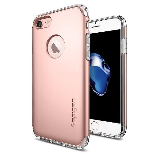 Чехол Spigen Hybrid Armor для iPhone 7 (Айфон 7) розовое золото (SGP-042CS20696)Чехлы для iPhone 7<br>Чехол Spigen Hybrid Armor для iPhone 7 (Айфон 7) розовое золото (SGP-042CS20696)<br><br>Цвет товара: Розовое золото<br>Материал: Поликарбонат, полиуретан
