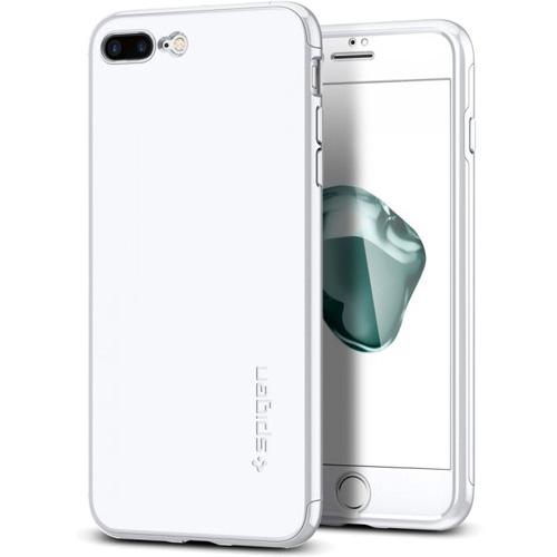 Чехол Spigen Thin Fit 360 для iPhone 7 Plus (Айфон 7 Plus) белый (SGP-043CS21100)Чехлы для iPhone 7 Plus<br>Ультратонкий и невероятно лёгкий чехол Spigen Thin Fit 360 для iPhone 7 Plus.<br><br>Цвет товара: Белый<br>Материал: Поликарбонат