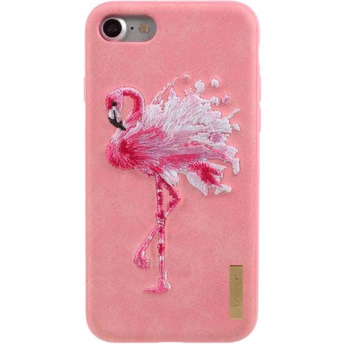 Чехол Nimmy Animal Denim для iPhone 7 / iPhone 8 (Фламинго) розовыйЧехлы для iPhone 7<br>Оригинальный и надёжный чехол Nimmy Animal Denim притягивает взгляд окружающих с первой секунды.<br><br>Цвет: Розовый<br>Материал: Пластик, силикон, текстиль