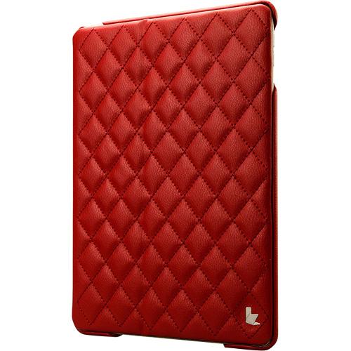Чехол Jison Matelasse Case для iPad Air красныйЧехлы для iPad Air<br>Чехол Jison Matelasse Case - это чистые линии и высокая функциональность, простота и технологичность, элегантность и универсальный дизайн.<br><br>Цвет товара: Красный<br>Материал: Натуральная кожа, поликарбонат