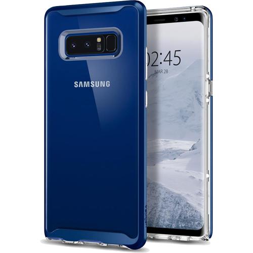 Чехол Spigen Neo Hybrid Crystal для Samsung Galaxy Note 8 синий (587CS22094)Чехлы для Samsung Galaxy Note<br>Spigen Neo Hybrid Crystal — прозрачная защита, созданная исключительно для Samsung Galaxy Note 8.<br><br>Цвет товара: Синий<br>Материал: Термопластичный полиуретан, поликарбонат