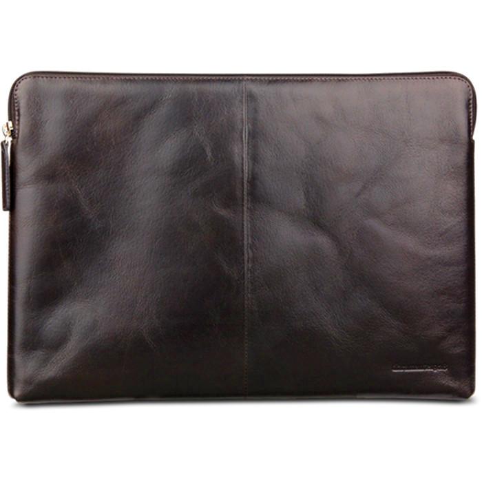 Чехол Dbramante1928 Skagen для Macbook 13 (с и без TouchBar) тёмно-коричневыйЧехлы для MacBook Pro 13 Retina<br>Элегантный и практичный чехол для Macbook 13 (2016).<br><br>Цвет товара: Коричневый<br>Материал: Натуральная кожа, текстиль