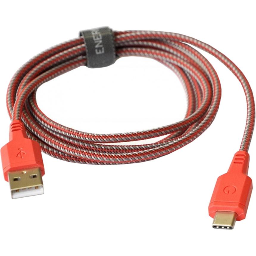 Кабель EnergEA Nylotough Type-C (1,5 метра) красныйКабели Type-C и другие<br>Длинный кабель EnergEA Nylotough в плотной нейлоновой оплетке для гаджетов с интерфейсом USB Type-C.<br><br>Цвет товара: Красный<br>Материал: Пластик, нейлон