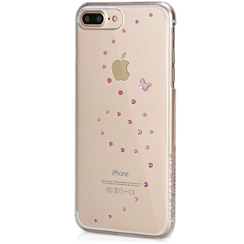 Чехол Bling My Thing Papillon для iPhone 7 Plus (Айфон 7 Плюс) Rose Sparkles прозрачный