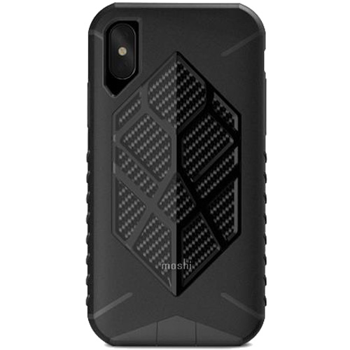 Чехол Moshi Talos для iPhone X чёрныйЧехлы для iPhone X<br>Чехол Moshi Talos обеспечивает исключительную защиту для вашего iPhone X при случайных падениях.<br><br>Цвет товара: Чёрный<br>Материал: Поликарбонат, полиуретан, микрофибра (подкладка)