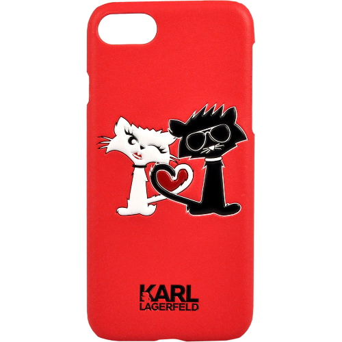 Чехол Karl Lagerfeld Choupette in love Hard PU для iPhone 7 (Айфон 7) красныйЧехлы для iPhone 7<br>Чехол Karl Lagerfeld для iPhone 7 Choupette in love Hard PU Red<br><br>Цвет товара: Красный<br>Материал: Полиуретан PU