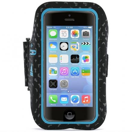 Чехол Griffin adidas Armband для iPhone 5/5s/5c/SE чёрный/голубойЧехлы для iPhone 5/5S/SE<br>Чехол Griffin Adidas на руку для iPhone 5/5s/5c/5se черный/синий<br><br>Цвет товара: Голубой<br>Материал: Текстиль, силикон