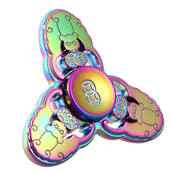 Спиннер Fidget Glory Rainbow Series Обезьяны SP4543Игрушки-антистресс<br>Благодаря покрытию «хамелеон» спиннер Fidget Glory захватывает внимание с первой секунды!<br><br>Цвет товара: Разноцветный<br>Материал: Металл