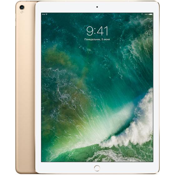 Apple iPad Pro 12.9 (2017) 256 Гб Wi-Fi + Cellular золотойiPad Pro 12.9 (2017)<br>Новый iPad Pro мощнее множества современных ноутбуков!<br><br>Цвет товара: Золотой<br>Материал: Металл, пластик<br>Модификация: 256 Гб