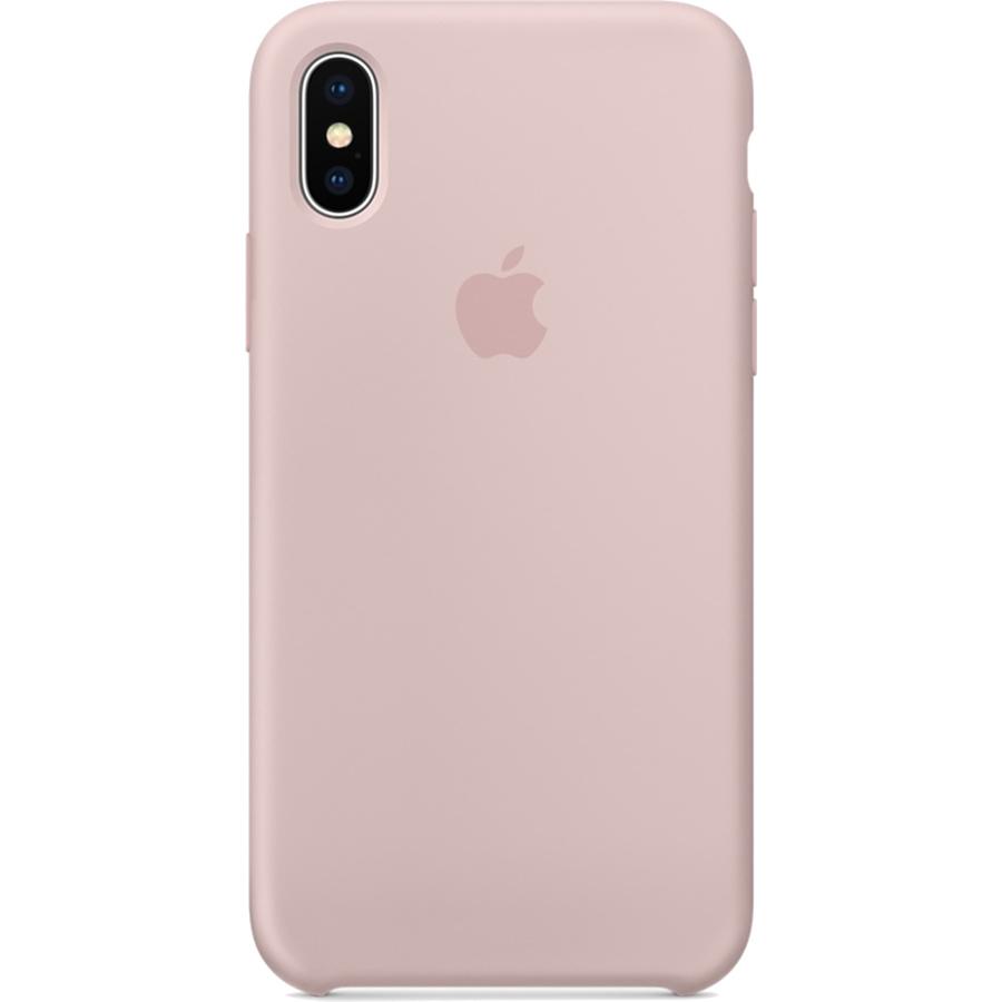 Силиконовый чехол Apple Silicone Case для iPhone X «розовый песок» (Pink Sand)Чехлы для iPhone X<br>Силиконовый чехол от Apple — отличное дополнение к вашему iPhone X.<br><br>Цвет товара: Розовый<br>Материал: Силикон
