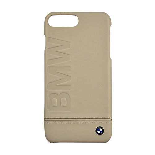 Чехол BMW Signature Logo Imprint Hard Leather для iPhone 7 Plus (Айфон 7 Плюс) тёмно-серый