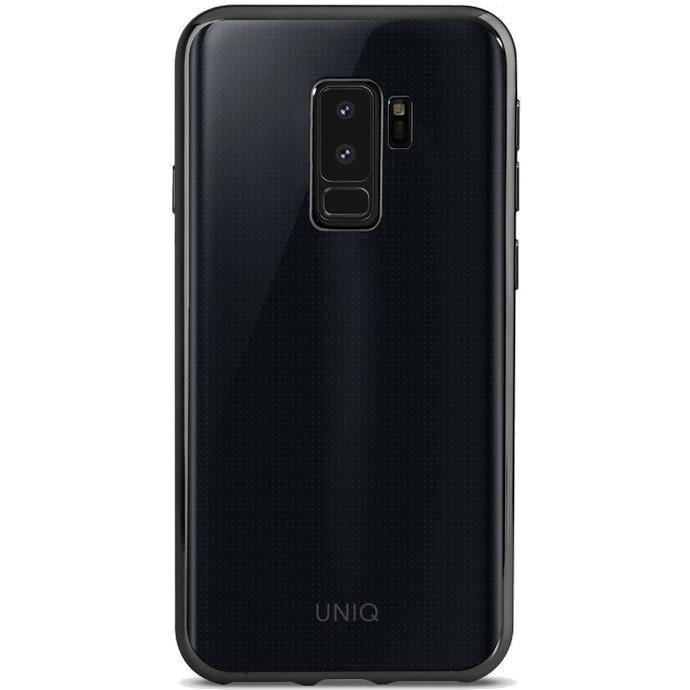 Чехол Uniq Glacier Glitz для Samsung Galaxy S9 Plus чёрныйЧехлы для Samsung Galaxy S9/S9 Plus<br>Полупрозрачный дизайн чехла едва скрывает истинный дизайн смартфона<br><br>Цвет товара: Чёрный<br>Материал: Термопластичный полиуретан