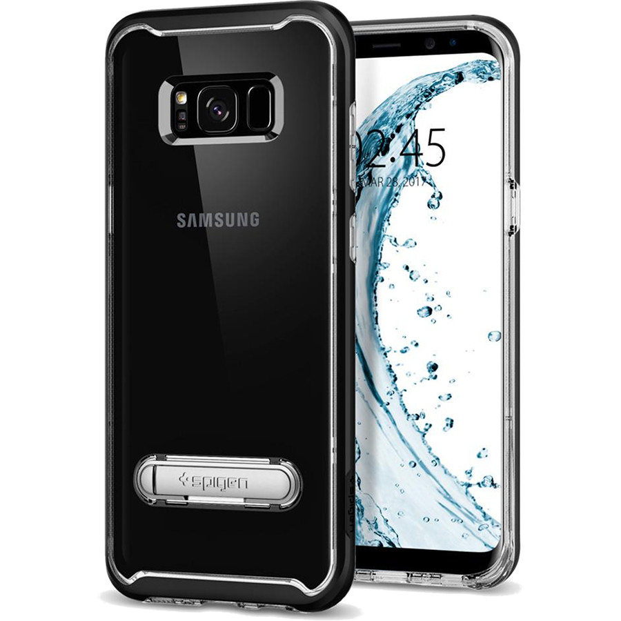 Чехол Spigen Crystal Hybrid для Samsung Galaxy S8 Plus чёрный (571CS21126)