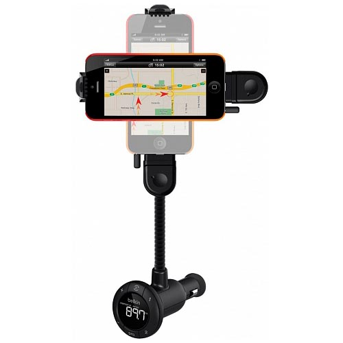 FM-трансмиттер Belkin TuneBase Hands-Free FM для iPhone 5Автозарядки<br>Belkin TuneBase Hands-Free FM откроет перед Вами широкие возможности.<br><br>Цвет товара: Чёрный<br>Материал: Пластик, металл