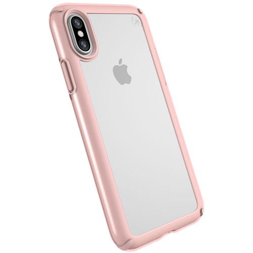 Чехол Speck Presidio Show для iPhone X прозрачный/розовое золотоЧехлы для iPhone X<br>Speck Presidio Show защитит ваш iPhone X и придаст ему презентабельный внешний вид.<br><br>Цвет товара: Розовое золото<br>Материал: Поликарбонат