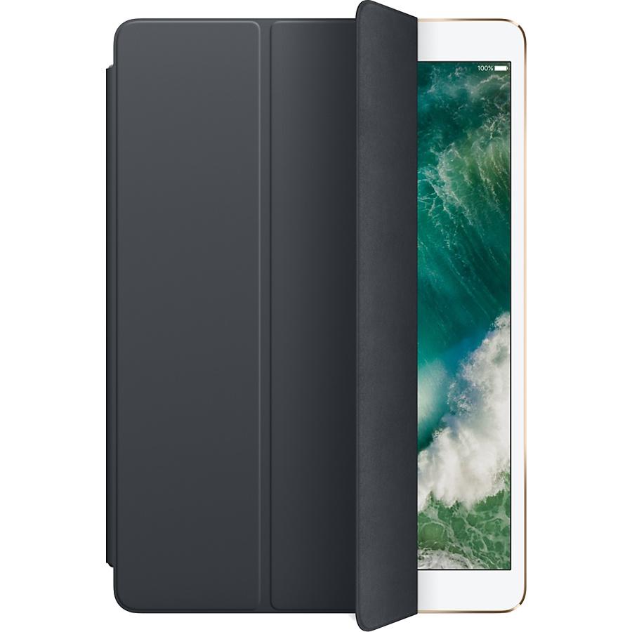 Чехол Apple Smart Cover для iPad Pro 10.5 (Charcoal Gray) угольно-серыйЧехлы для iPad Pro 10.5<br>Элегантная обложка Smart Cover из высококачественной полиуретановой кожи защищает дисплей iPad Pro.<br><br>Цвет: Серый<br>Материал: Полиуретан